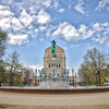 Veterans Memorial Monument and Historic Fountain in Indianapolis, Indiana