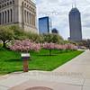 Veterans Memorial Monument in Indianapolis, Indiana