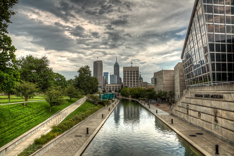 The Canal Walk in downtown Indianapolis, Indiana