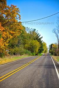 Fall Road in Bass Lake, Indiana