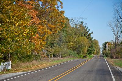 Bass Lake, Indiana Scenic Fall Drive
