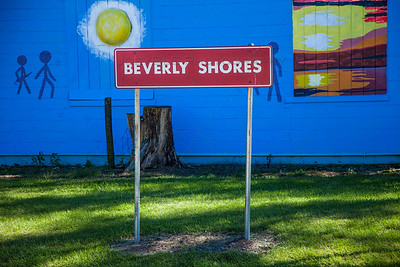 Beverly Shores Sign near Train Station