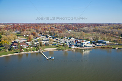 Aerial photo of Cedar Lake, Indiana in Fall