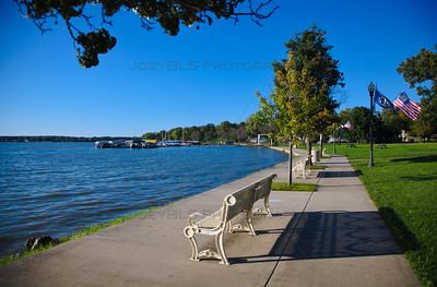 Cedar Lake, Indiana Walking Path Along the Shore