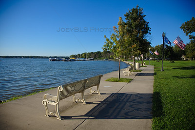 Cedar Lake, Indiana Walking Path Along the Shore