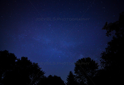 Stars and Milky Way in Cedar Lake, Indiana