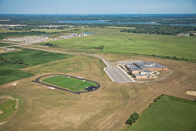 Aerial photo of Hanover Central Middle School Cedar Lake, Indiana