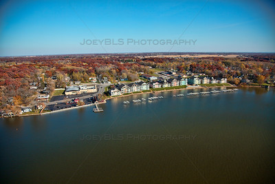Aerial photo of Cedar Lake, Indiana, taken in October 2012.