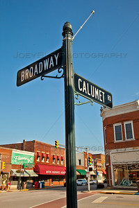 Downtown Chesterton, Indiana at Broadway and Calumet