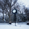 Downtown Chesterton, Indiana Clock in Winter