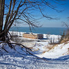 Indiana Dunes State Park Pavilion Winter