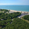 Aerial photo of the Indiana Dunes Pavilion in Chesterton, Indiana