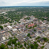 Aerial Downtown Crown Point Square Summer 2016