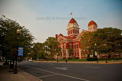 Downtown Crown Point, Indiana Square at Sunset