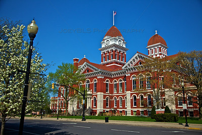 Old Lake County, Indiana Courthouse in Crown Point in the Spring
