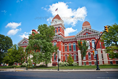 Old Lake County Court House on the Historic Downtown Crown Point, Indiana Square