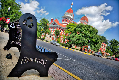 Crown Point Bench on the Downtown Square