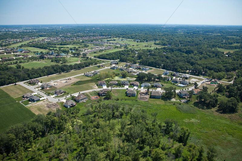 Aerial Crown Point, Indiana White Hawk West Subdivision