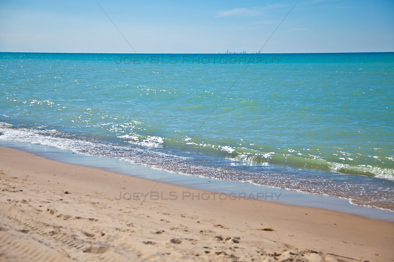 Lake Michigan Shoreline in Dune Acres, Indiana