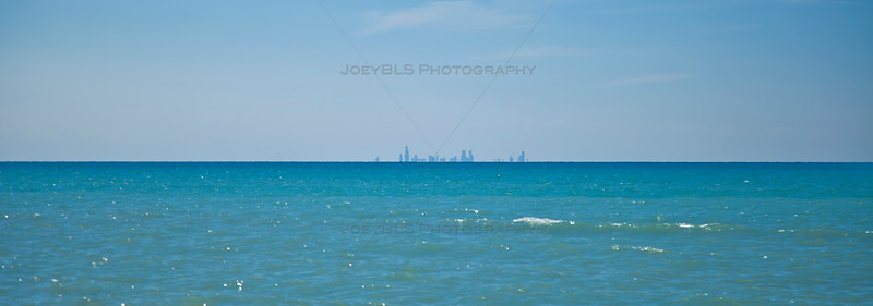 Chicago Skyline from Dune Acres, Indiana