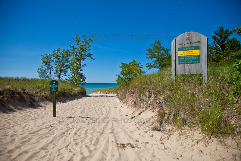 Beach Entrance in Dune Acres, Indiana