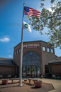 Dyer, Indiana Town Hall in the Spring