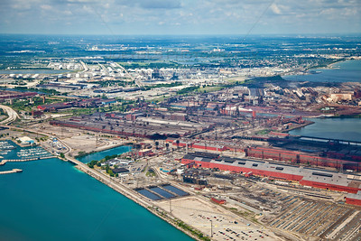 Aerial photo of Arcelor Mittal Steel in East Chicago, Indiana