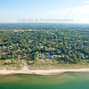 Aerial photo of Miller Beach in Gary, Indiana