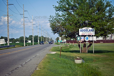 East US 24 in Goodland, Indiana
