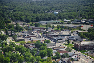 Aerial Griffith, Indiana over Broad Ave.