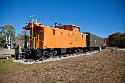 Downtown Griffith, Indiana Caboose Railroad Museum