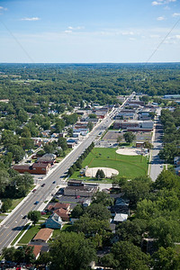 Aerial photo of Downtown Griffith, Indiana