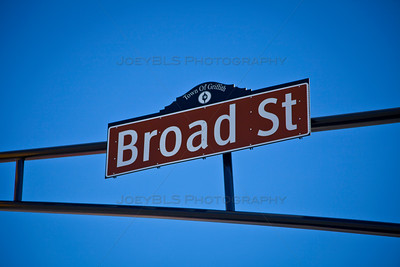 Broad St Sign in Downtown Griffith, Indiana