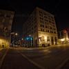 Downtown Hammond, Indiana at Night