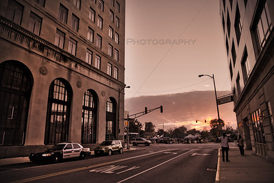 Downtown Hammond, Indiana on Sibley Street