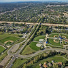 Aerial Optimist Park and Baseball Fields in Hammond, Indiana