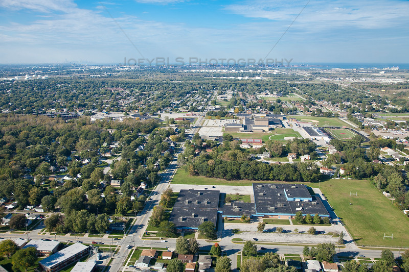 Aerial Photo of Hammond, Indiana - Scott Middle School