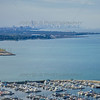 Aerial Photo of Hammond, Indiana - Hammond Marina with Chicago Skyline