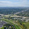 Aerial Photo of Hammond, Indiana - Chicago Skyline and Calumet Avenue Interchange with I-80/94