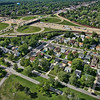 Aerial Hammond, Indiana Calumet Ave I-80/94 Interchange
