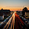 Streaking Traffic Lights on Indianapolis Blvd in Hammond, Indiana