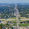 Aerial Photo of Hammond, Indiana - Chicago Skyline and Calumet Avenue Interchange with I-80/94