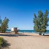 Hammond, Indiana Beach on Lake Michigan