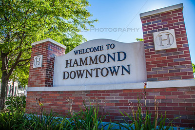 Downtown Hammond, Indiana Welcome Sign