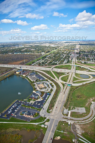 Aerial photo of Hammond, Indiana at Kennedy Ave Interchange