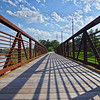 Monon Trail Bridge over Little Calumet River in Hammond, Indiana