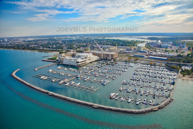 Aerial photo of the Hammond Marina in Hammond, Indiana