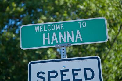 Hanna, Indiana Welcome Sign