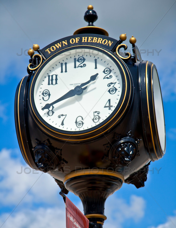 Hebron, Indiana Clock Downtown