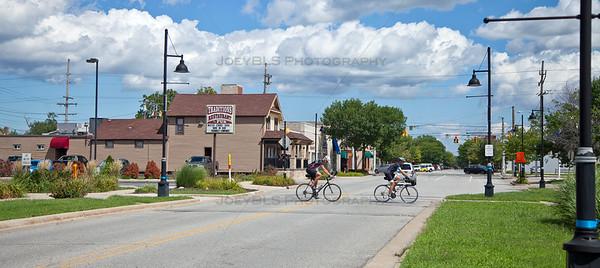 Highland, Indiana Erie Lackawanna Bike Trail Crossing on Highway Avenue